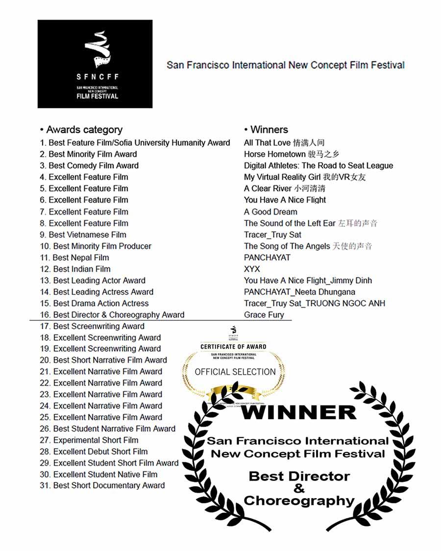 Winner: SF International New Concept Film Festival - Best Director & Choreography