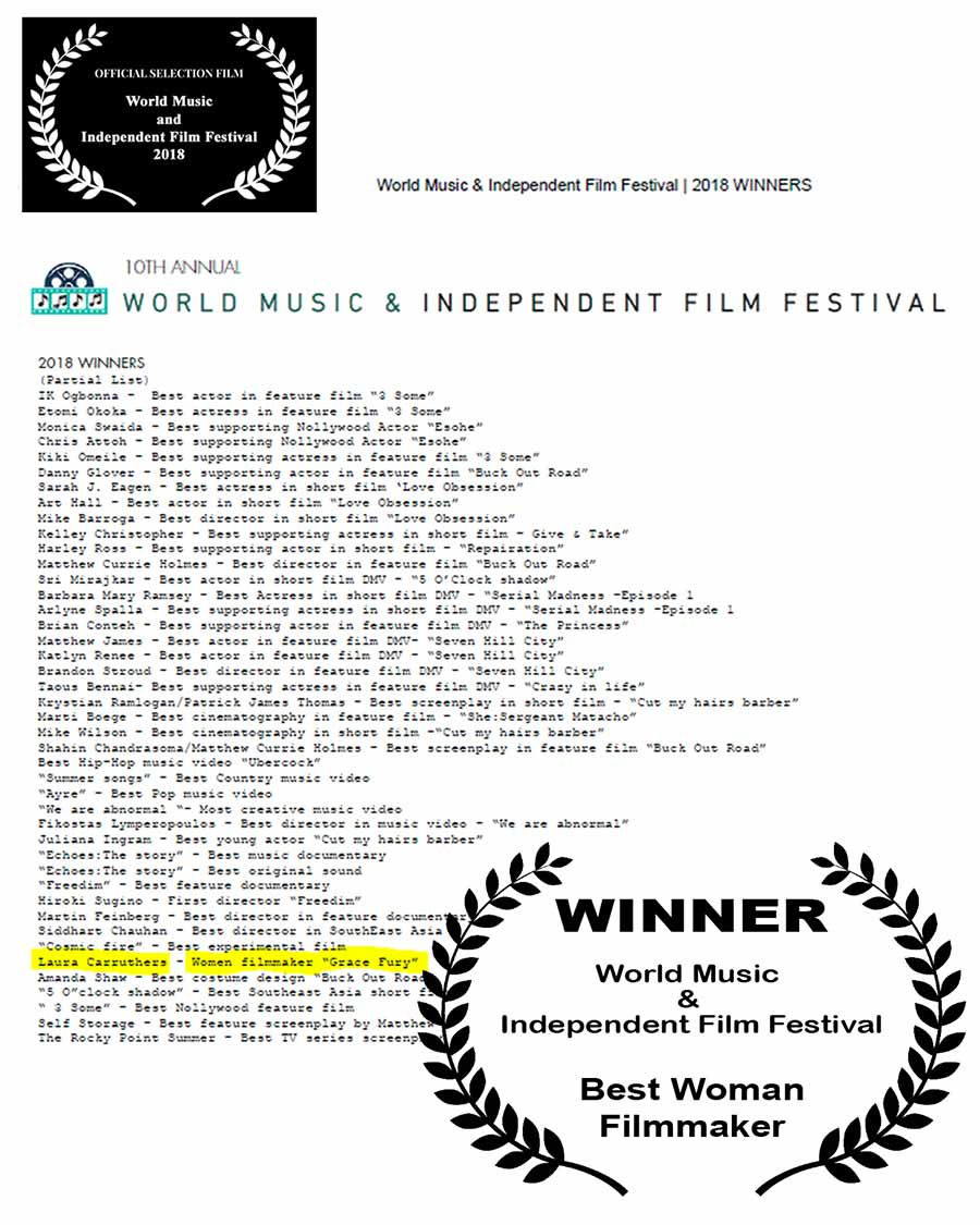Winner: World Music & Independent Film Festival - Best Woman Filmmaker